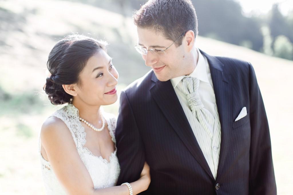 admiring look at the husband