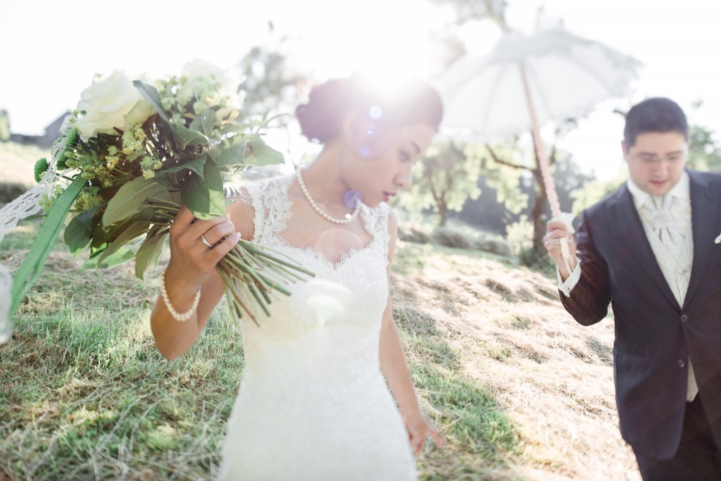 Bridal shooting - tilt shift shot