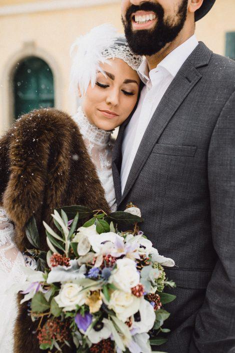 Winterhochzeit Braut Makeup